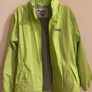 93c19db47e20 Supreme Jackets   Coats - SS18 Supreme X Champion Neon Jacket